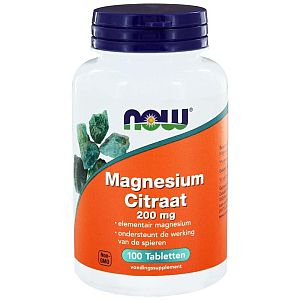 Magnesium citraat 200mg NOW