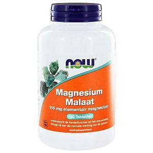 Magnesium Malaat NOW 180 tabl.