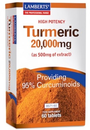 Curcuma (turmeric) extract 500mg van Lamberts 60 tabl.