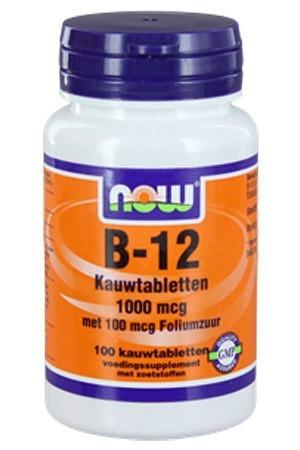 Vitamine B12 1000 mcg kauwtabletten NOW