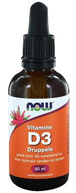 Vitamine D3 druppels NOW