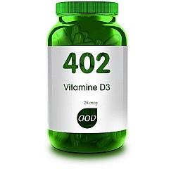 Vitamine D3 25 mcg 402 AOV 60 caps.