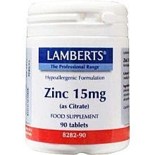 Zink Citraat Lamberts 15 mg